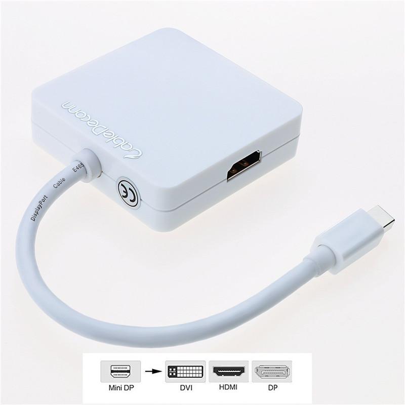 振德 CableDeconn MiniDisplayPort转DP/HDMI/DVI三合一转换器