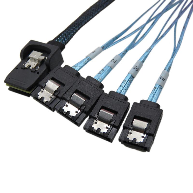 振德 CableDeconn Mini SAS 36P Sff 8087 对 sata 7P 电脑硬盘服务器数据传输线