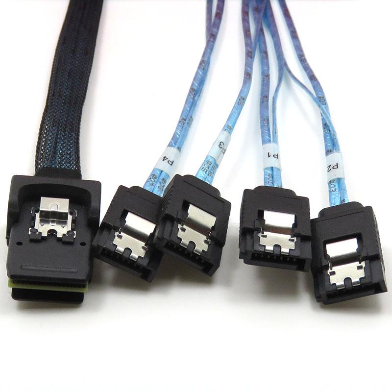 振德 CableDeconn Mini SAS 36P TO 4*7P SATA 服务器电脑硬盘数据传输线