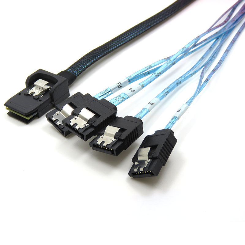 振德 CableDeconnMini SAS 36P SFF-8087TO 4*7P SATA服务器数据传输线