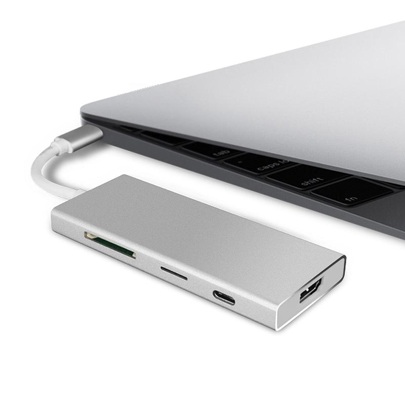 振德 CableDeconn Type-c七合一扩展坞USB3.1转HDMI/USB HUB/SD TF卡转换器