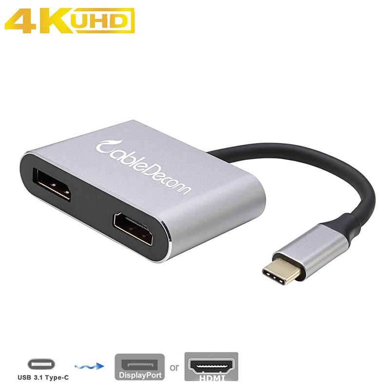 振德 CableDeconn type c转DP/HDMI转换器