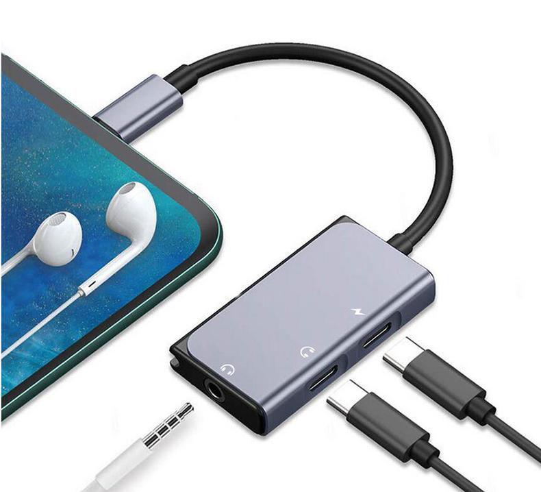 振德 CableDeconn type-c耳机转接头 3.5转接线音频分线转换器三合一扩展坞