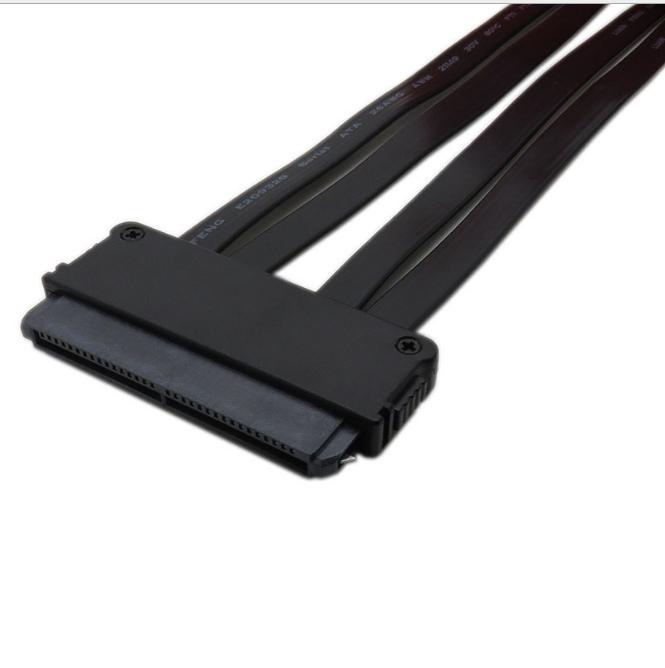 振德 CableDeconnMini sas32转4sata线黑色50cmSFF8484转4sata服务器硬盘线