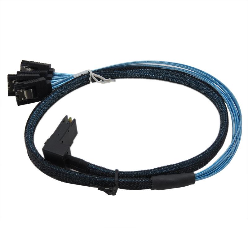 振德 CableDeconn MINI SAS 36P 90度弯头L 型 对4*sata服务器电脑传输线